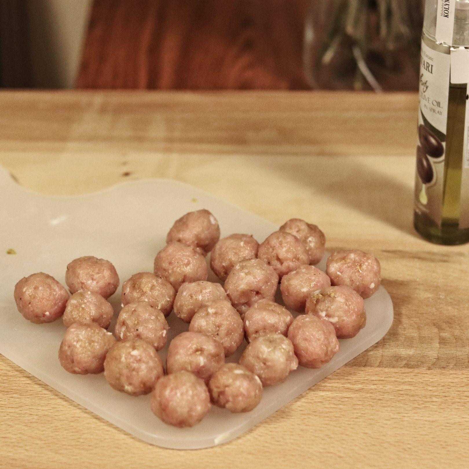 Turkey Meatballs in a Creamy Spinach Casserole