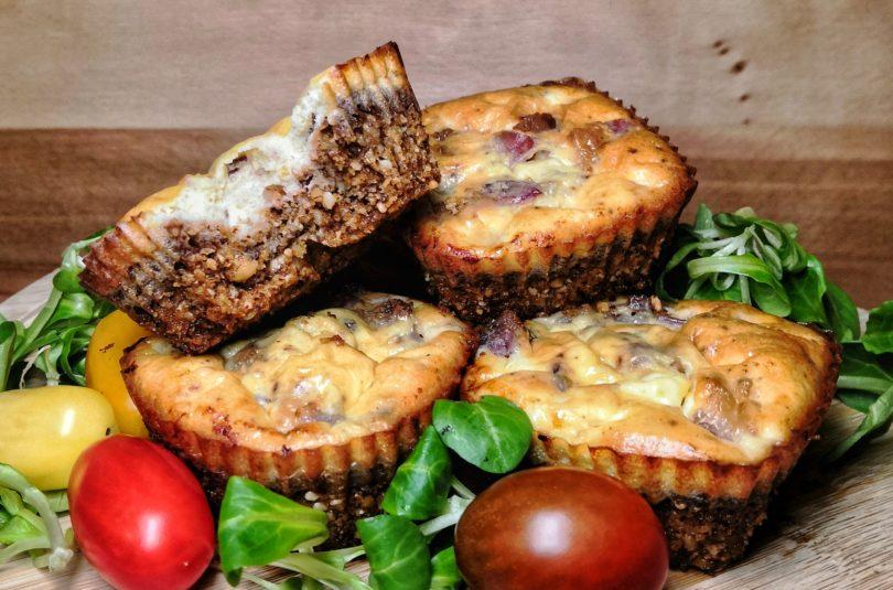 Mini Keto Quiches With Feta Cheese