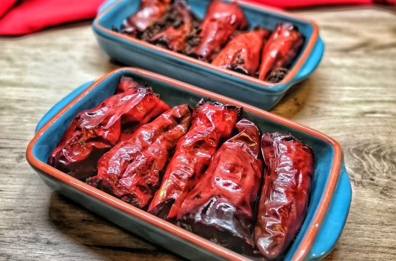 Beef & Walnut Stuffed Dried Chiles