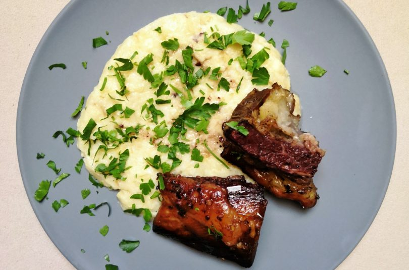 Marinated Beef Ribs with Celeriac Mash