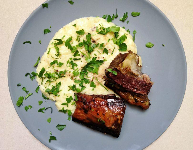 Marinated Beef Ribs with Celeriac Mash