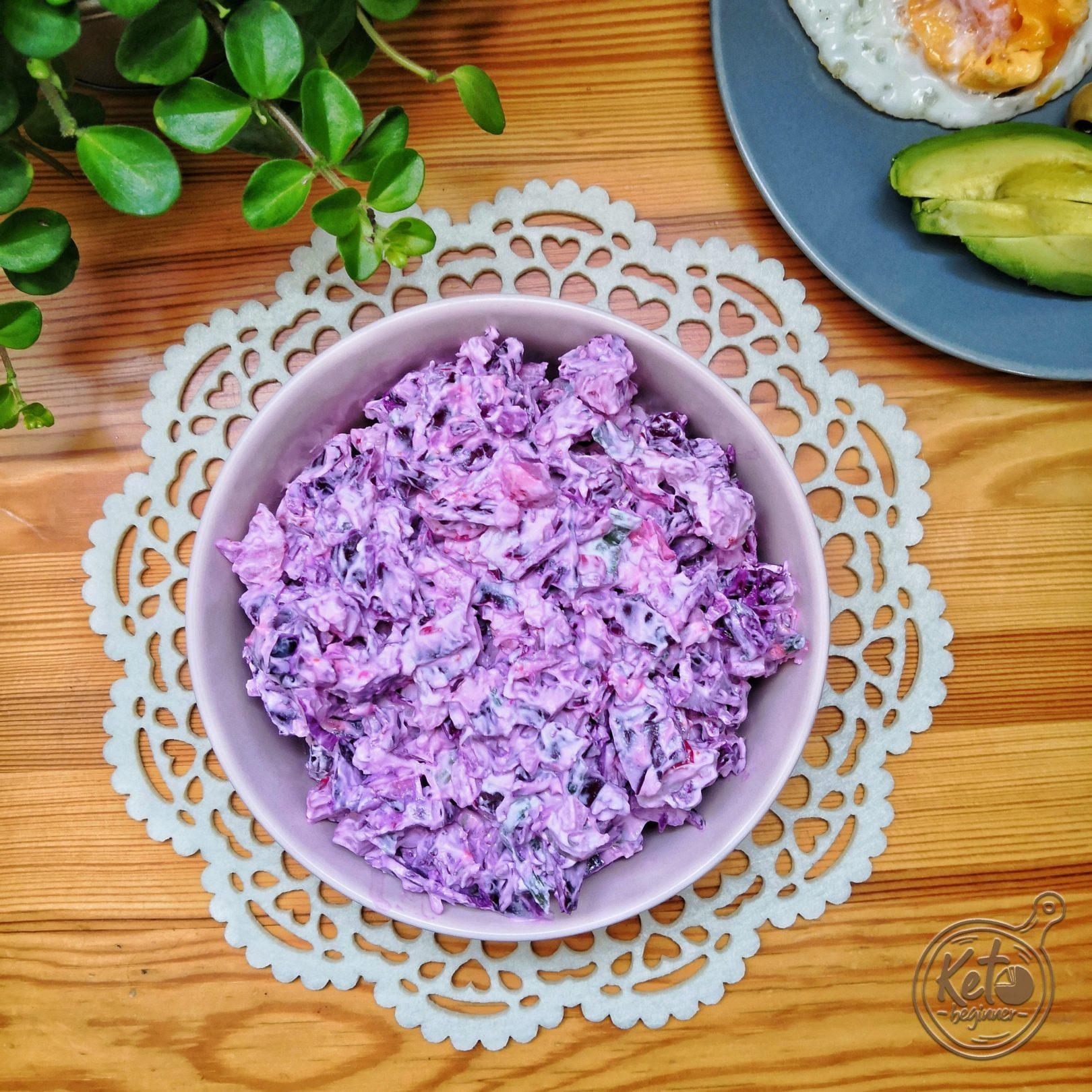 Purple Low-Carb Coleslaw