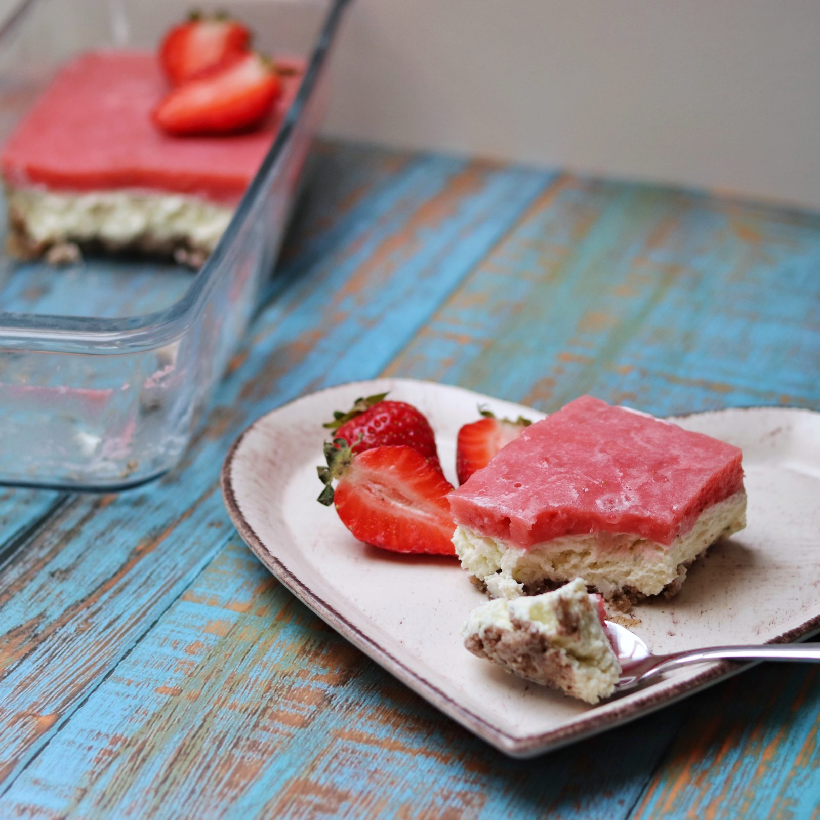 Strawberry Lime Cheesecake