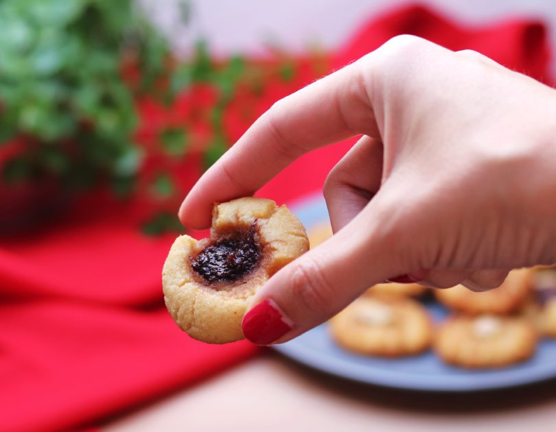 Low-Carb Thumbprint Cookies – Hallongrotta